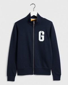 Gant Graphic Zip-Through Sweat Avond Blauw