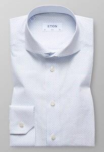 Eton Micro Pattern Blauw