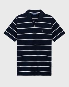 Gant Breton Stripe Piqué Avond Blauw