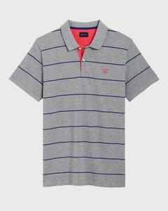 Gant 3 Color Piqué Short Sleeve Grijs Melange