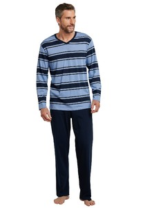 Schiesser Selected! Premium Pajamas Blue