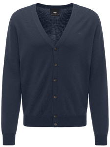 Fynch-Hatton Cardigan Button Wool Navy