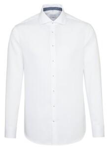 Seidensticker Light Spread Kent Sleeve 7 White