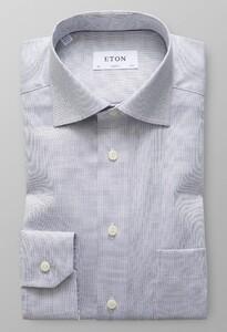 Eton Signature Twill Micro Weave Dark Navy