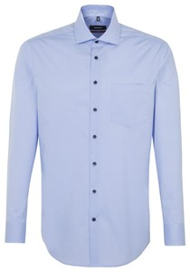 Seidensticker Faux Uni Spread Kent Blauw