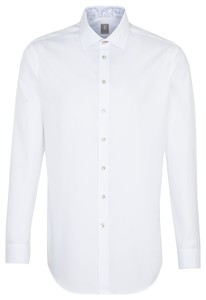 Jacques Britt Extra Long Sleeve Twill Uni White