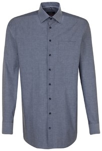 Seidensticker Chambray Business Kent Navy