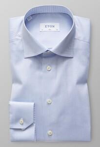 Eton Uni Contrast Signature Twill Light Blue