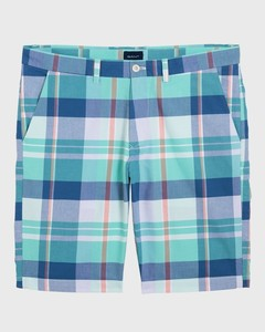 Gant Stripe-Check Bermuda Pool Green