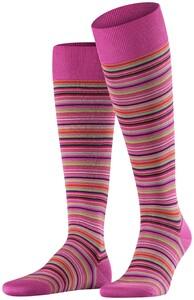 Falke Microblock Stripe Roze