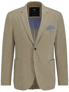 Fynch-Hatton Blazer Cotton Structure Beige