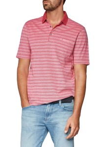 Maerz Striped Poloshirt Hot Pink