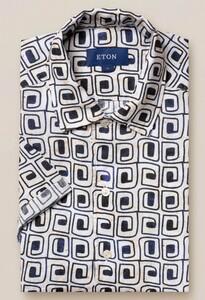 Eton Relaxed Short Sleeve Resort Vague Off White