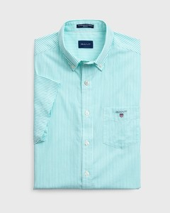 Gant The Broadcloth Banker Short Sleeve Pool Green