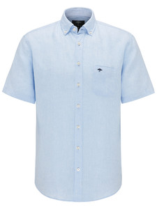 Fynch-Hatton Solid Linen Shirt Blauw