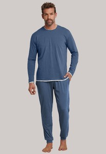 Schiesser Lights on Blue Pyjama Indigo