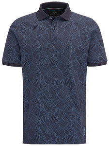 Fynch-Hatton Heritage Print Polo Navy