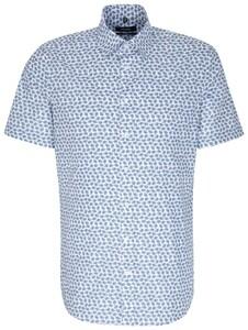 Seidensticker Covered Button Down Short Sleeve Blauw