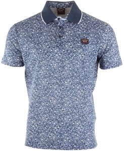 Paul & Shark White Flower Polo Blauw