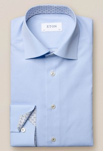 Eton Poplin Uni Cutaway Licht Blauw