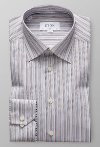 Eton Fine Striped Twill Multicolor