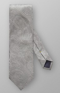Eton Shiny Paisley Mid Grey