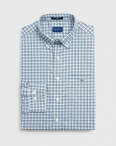 Gant The Broadcloth 3 Color Gingham Bladgroen