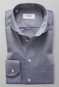 Eton Twill Uni Micro Weave Donker Blauw