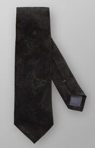 Eton Paisley Velvet Tie Antraciet Melange