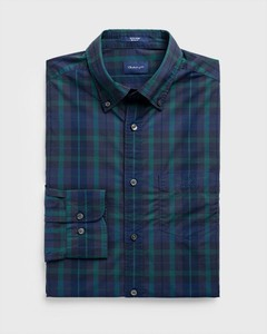 Gant Tech Prep Broadcloth Check Atlantic Deep