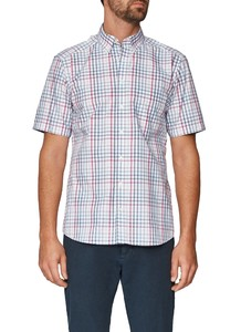 Maerz Short Sleeve Check Whispering Blue
