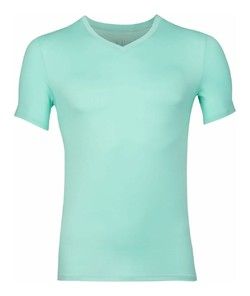 RJ Bodywear Pure Color V-hals T-Shirt Mint