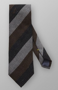 Eton Diagonal Striped Extra Light Grey Melange