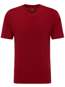 Fynch-Hatton V-Neck T-Shirt Cherry