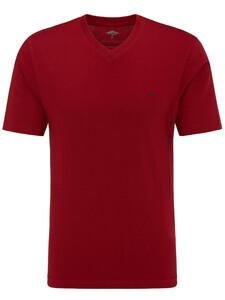 Fynch-Hatton V-Neck T-Shirt Cherry