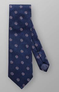 Eton Floral Woven Silk Dark Navy
