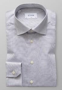 Eton Melange Micro Weave Dark Navy