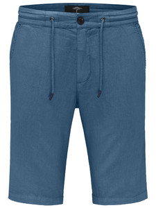 Fynch-Hatton Cotton Linen Blend Bermuda Radiant Blue