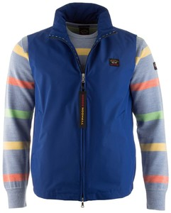 Paul & Shark Typhoon Flag Detail Body-Warmer Midden Blauw