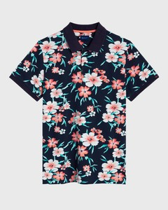 Gant All Over Floral Piqué Polo Shirt Avond Blauw
