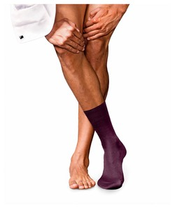 Falke No. 9 Socks Egyptian Karnak Cotton Pinot Noir