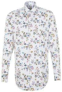 Jacques Britt Fantasy Floral Sleeve 7 Sky Blue Melange