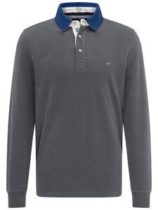 Fynch-Hatton Rugby Plain Shirt Asphalt