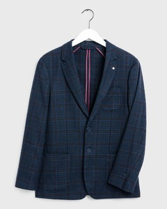 Gant Washable Check Blazer Avond Blauw