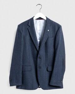 Gant Regular Herringbone Blazer Avond Blauw