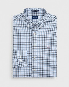 Gant The Broadcloth 3 Color Gingham Midden Blauw Melange
