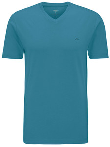 Fynch-Hatton V-Neck T-Shirt Aquamarijn