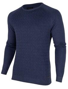 Cavallaro Napoli Ezio Cable Pullover Blauw