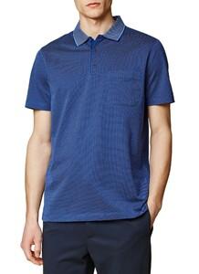 Maerz Uni Contrast Collar Indigo Blue Melange