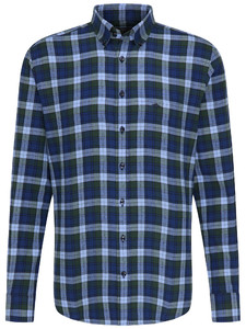 Fynch-Hatton Winter Big Check Navy-Moss
